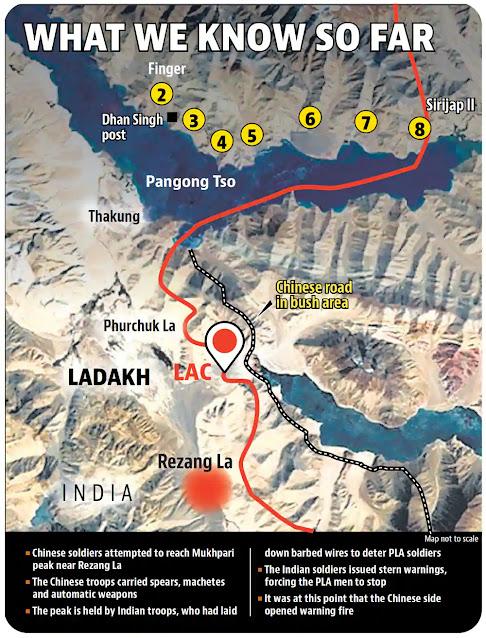 Ladakh/galwan valley map