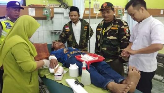 Bantu TNI-Polri Amankan Lebaran, 2 Anggota Banser Dibacok 6 Orang Tak Dikenal