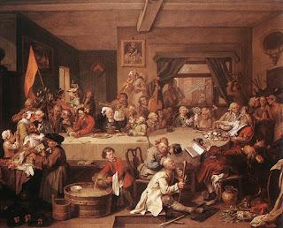 Um entertenimento de eleições - William Hogarth