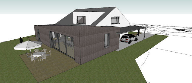 3D achtergevel woning verbouwing