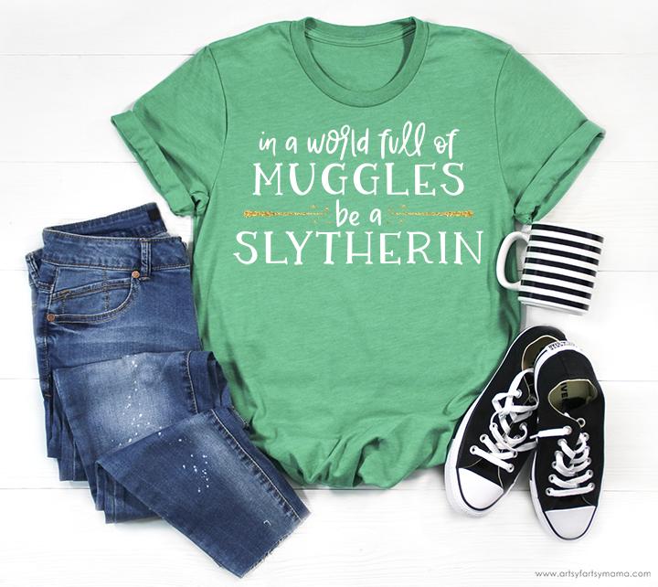 Harry Potter Hogwarts House Shirts + Free Cut Files