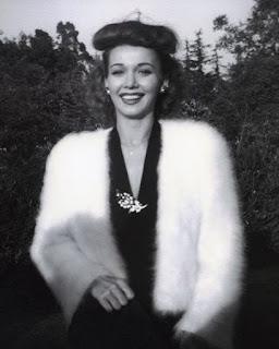Carole Landis Wearing Fur