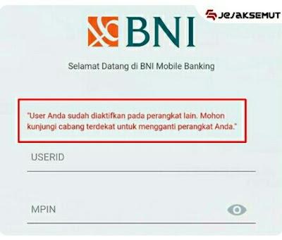 user m-banking bni digunakan di perangkat lain