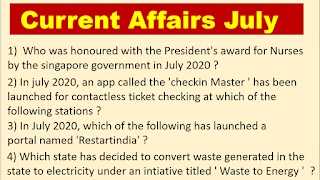 Current GK Questions , Current Affairs 2020