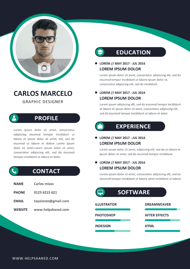 colorful cv resume template