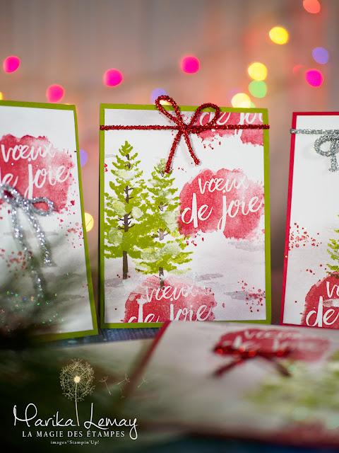 Ensemble de cartes de Noël avec Saison des Fêtes Stampin' Up1 et Que de bons voeux
