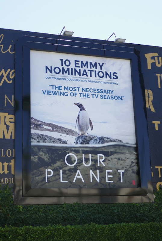 Our Planet Emmy nominee penguin billboard
