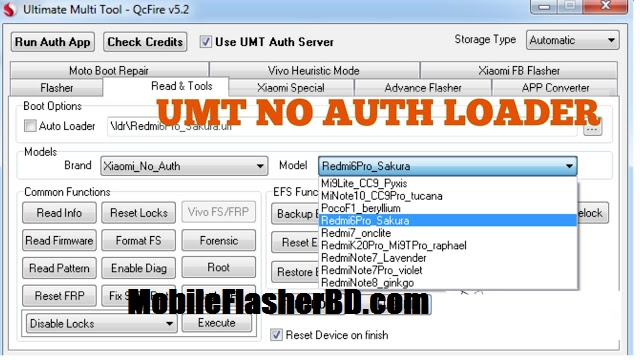 Download UMT Pro-QcFire v5.2 Ultimate Qualcomm Tool Free For All By JonakiTelecoM