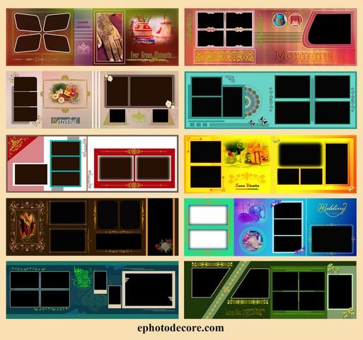 10 Creative Wedding Album Design PSD free Download 12x36 ZIP 2021