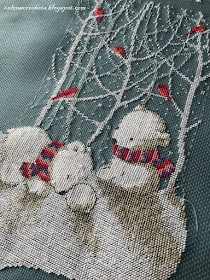 сапожок Dimensions вышивка крестом 08902 snow bears