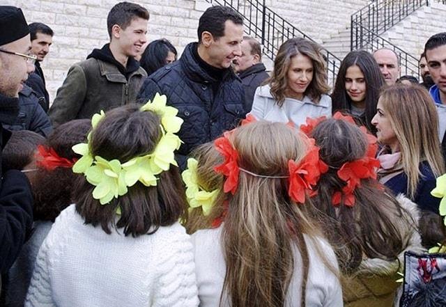 الأسد يحتفل بعيد الميلاد المجيد  فى دير سيدة صيدنايا بدمشق