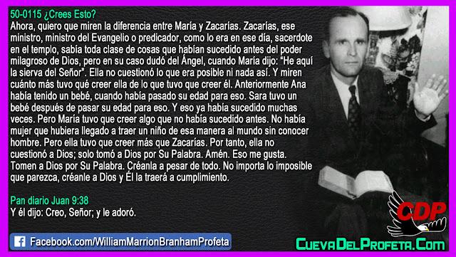 María tuvo que creer algo que no había sucedido antes - William Branham en Español