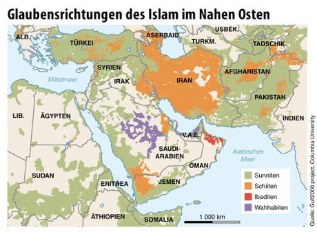 Sects of Muslims in the Middle East