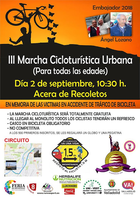 III Marcha Cicloturistica Ferias y Fiestas Valladolid 2018
