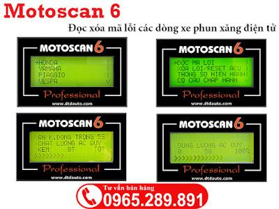 Motoscan 6 đọc thông số động cơ