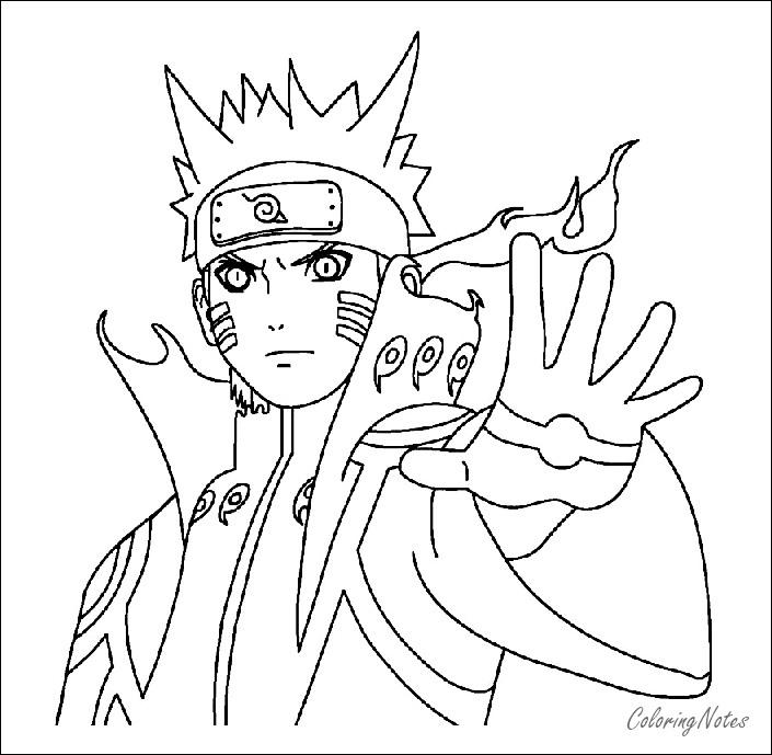Naruto Coloring Pages Free Printable   Sasuke, Kakashi, Akatsuki ...