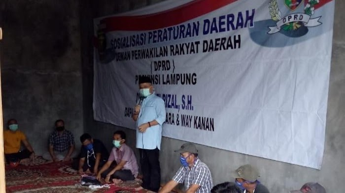 Anggota DPRD Lampung Yozi Rizal Sosperda Penyalahgunaan Narkoba di Way Kanan