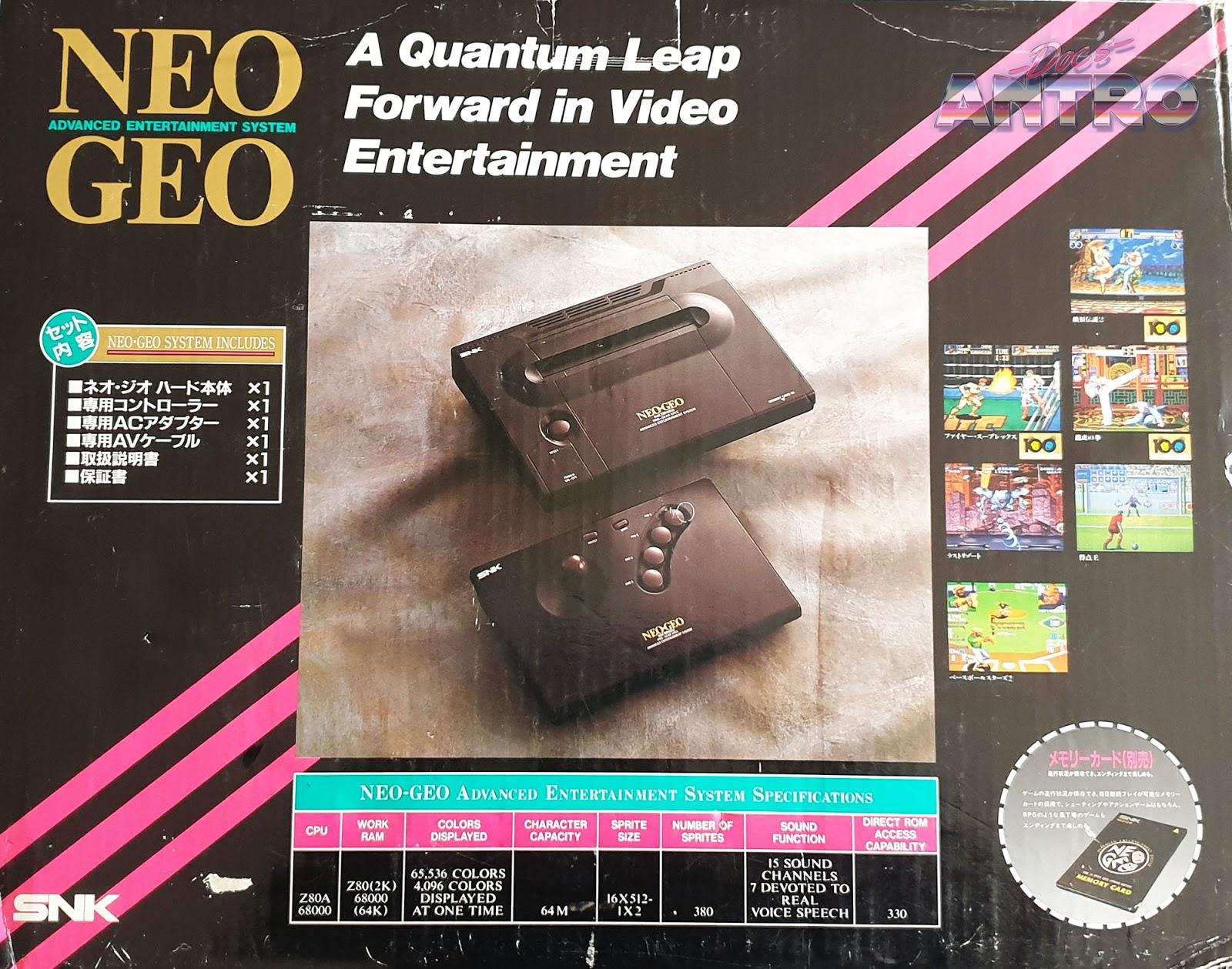 Neo Geo SNK storia console anni 90