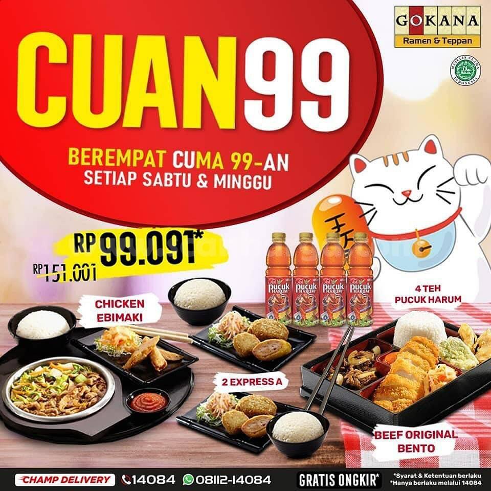 Promo GOKANA CUAN 99 – Makan Berempat cuma Rp 99Ribuan