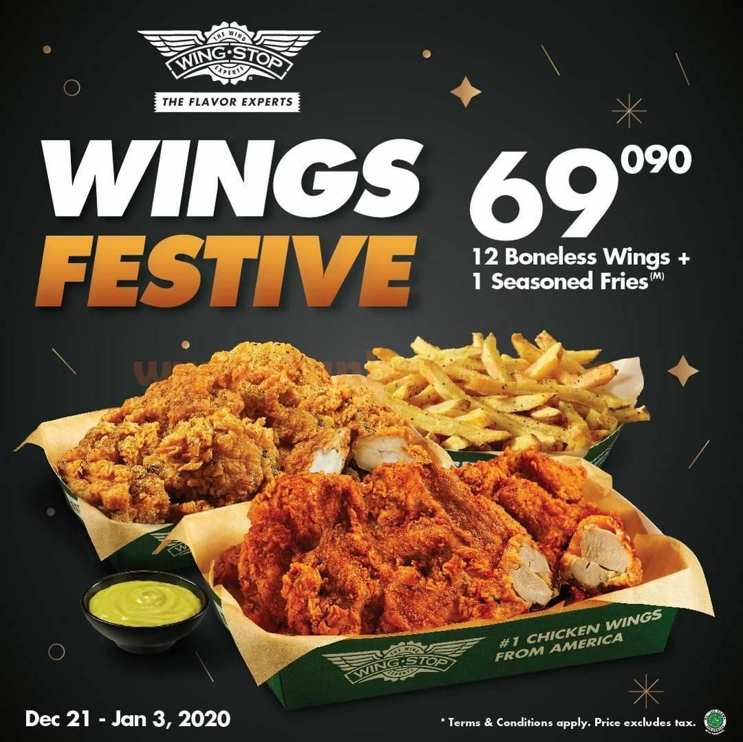 WINGSTOP Promo Kejutan Akhir Tahun – Paket WINGS FESTIVE hanya Rp 69.090