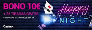 Goldenpark bono casino Happy Night 22 noviembre 2020