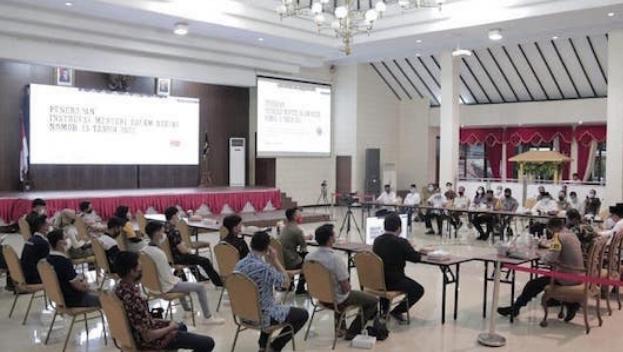 Pertemuan Bupati Jember Dalam Sosialisasi PPKM Darurat