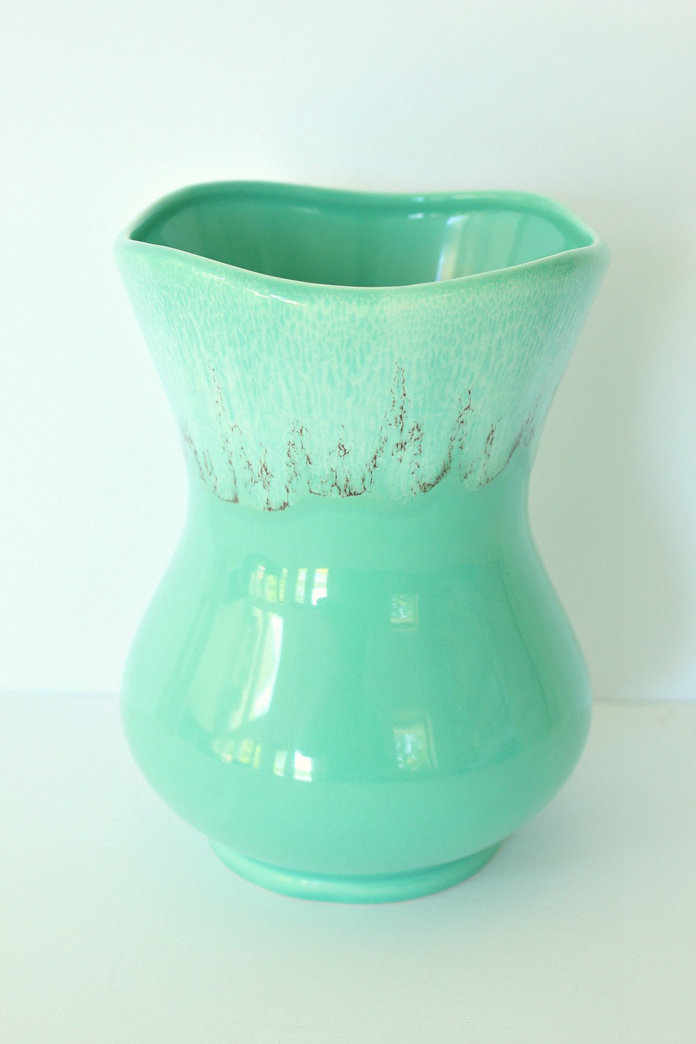 Turquoise Pottery Vase // Made in Canada // Minden Shop on Etsy