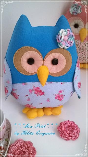 decoração-aniversário-chá de bebê-chá revelação-corujas-corujas em feltro-owls-felt-handmade