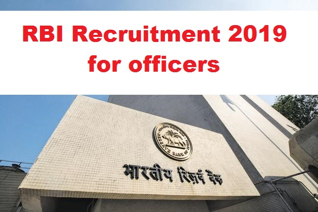 RBI Recruitment 2019 vacancies for officers
