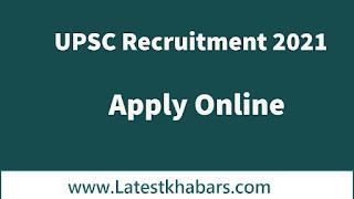 UPSC Recruitment 2021: Union Public Service Commission Public Prosecutor, Economic Officer, Assistant Executive Engineer 2021