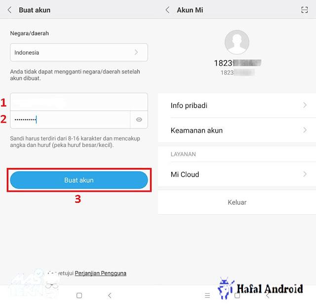 Cara Membuat Akun Mi dengan Nomor HP atau Email