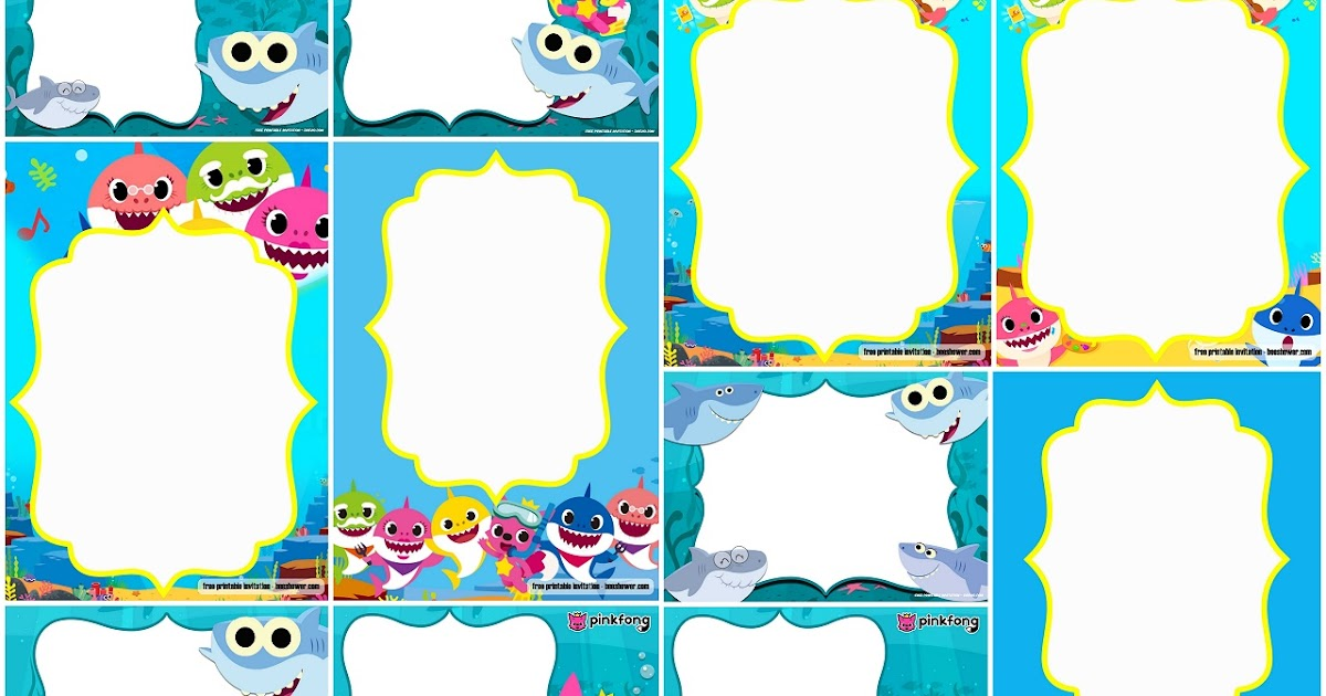 baby shark party free printable