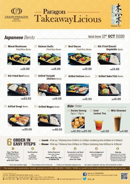 Malas Masak? Jom Order Bento 'TakeawayLicious' Dari Grand Paragon Hotel Johor Bahru!