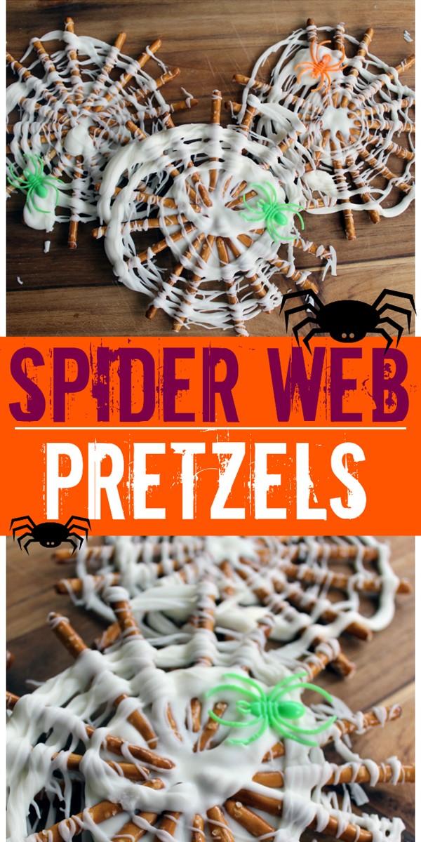 Spider Web Pretzels #halloweenrecipes