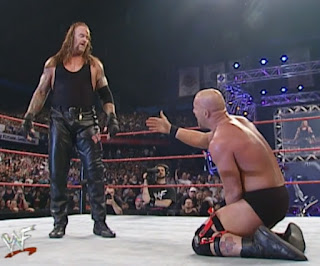 WWE / WWF Backlash 2001 - Steve Austin pleads with The Undertaker