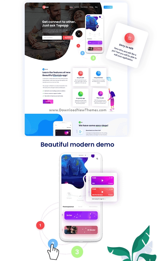 Best App Landing Page Template