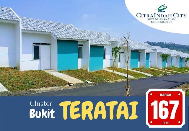 Cluster Bukit TERATAI Citra Indah City - Harga Mulai 167 Jt an (FREE PPN)