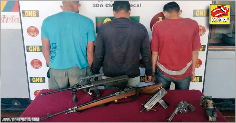 Delincuentes capturados en Apure con arsenal de armas de todo tipo