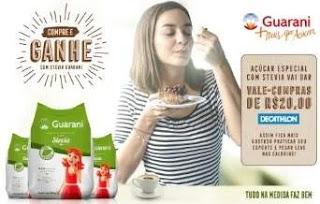 Cadastrar Promoção Guarani Açúcar Stevia Compre e Ganhe 20 Reais Usar Decathlon