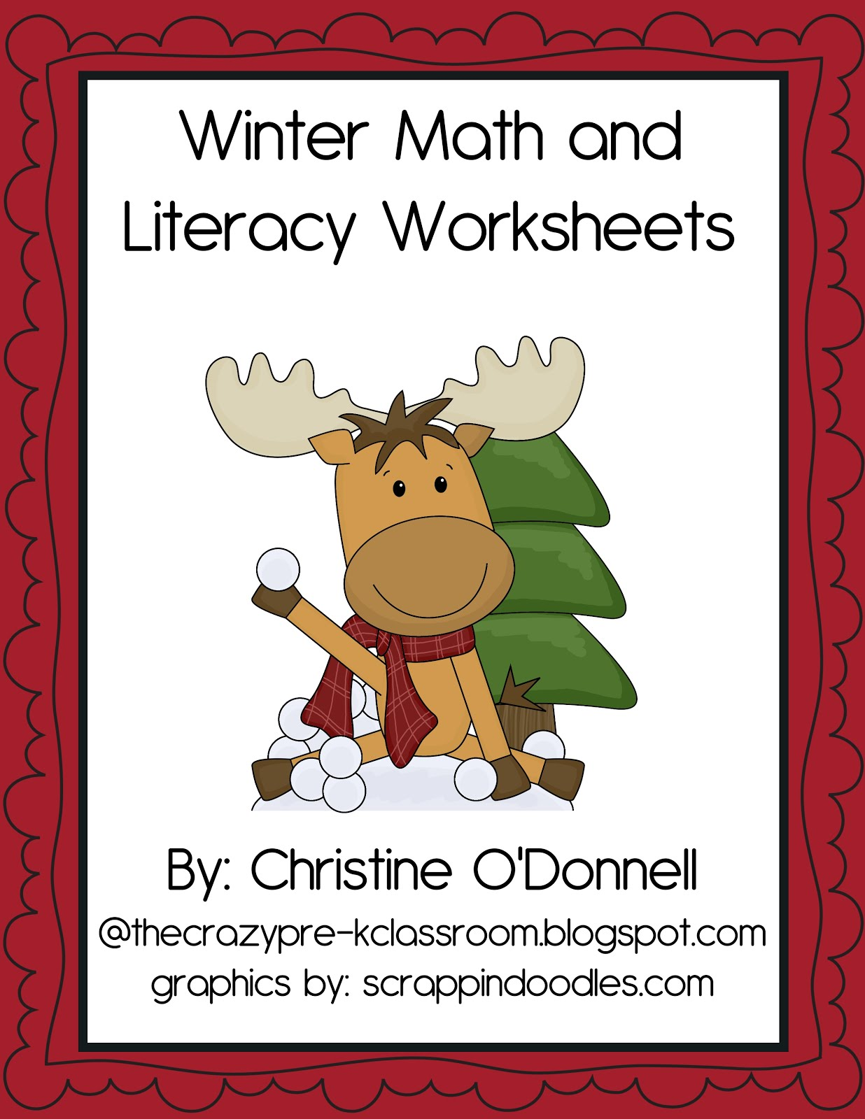 The Crazy Pre K Classroom Winter Worksheet Freebie