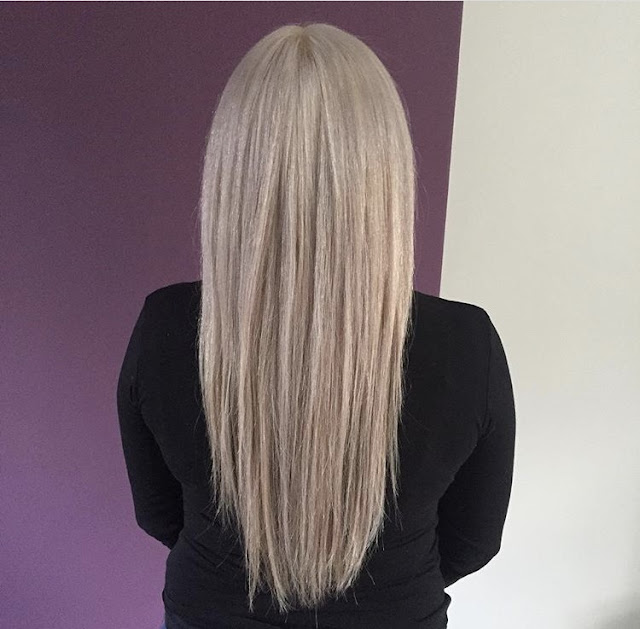 My hairdressing disaster story - before, long blonde hair