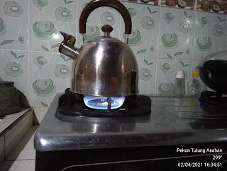 Api biru pada kompor gas mempercepat saat memasak