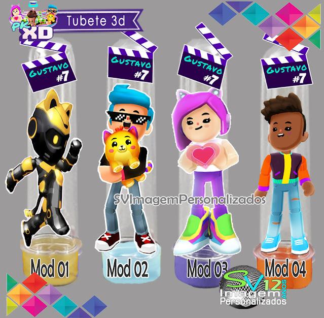 Tubete 3d Pk Xd Game dicas e ideias para decoração de festa personalizados