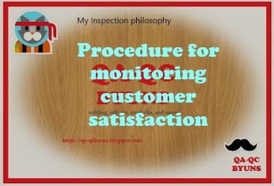 Procedure for monitoring customer satisfaction
