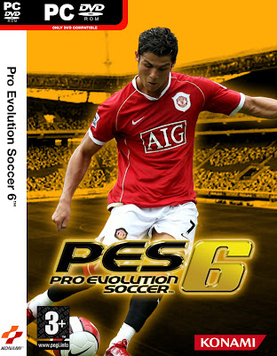 Cover PES 6, logo PES 6, Download game cho PC