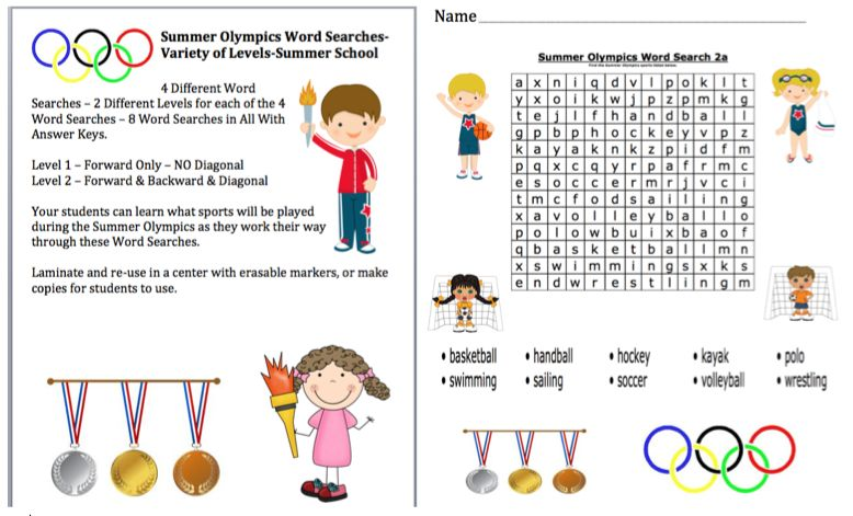 Olympics word search puzzle spectators nude