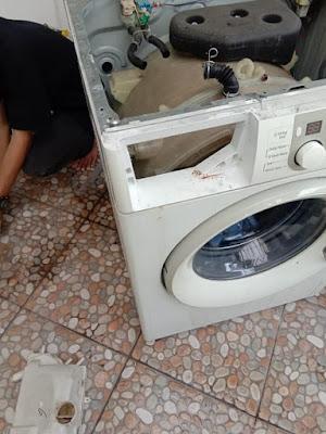 kode error mesin cuci samsung 4E, penyebab mesin cuci samsung error 4E