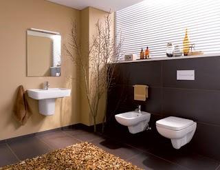 Diseño de baño marrón