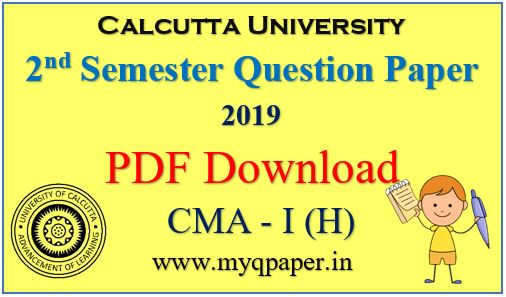 Download PDF Calcutta University Cost and Management Accounting- I Honours Question Paper 2019