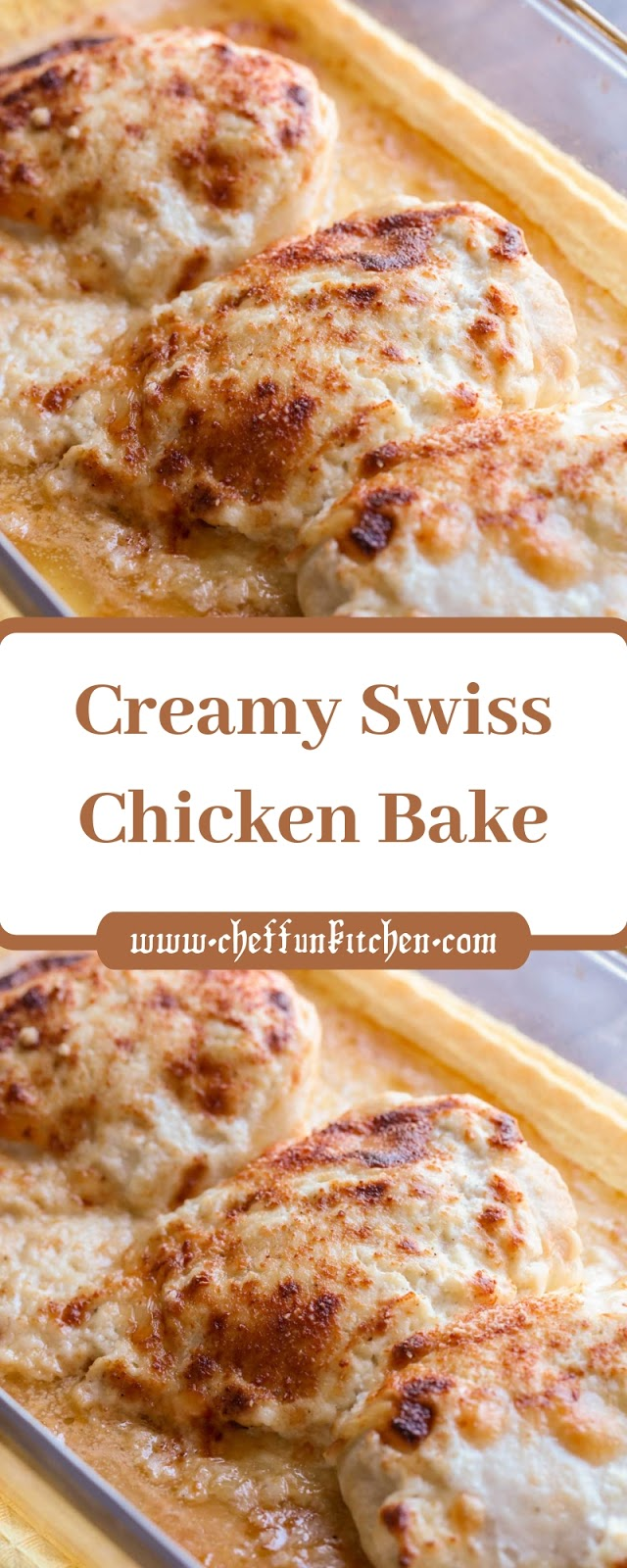 Creamy Swiss Chicken Bake
